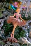 Ballerinaspielzeug Weihnachtsdekoration Lizenzfreie Stockbilder