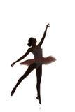 Ballerinatanzen auf einem weißen Hintergrund Lizenzfreie Stockfotos