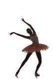 Ballerinatanzen auf einem weißen Hintergrund Stockfoto