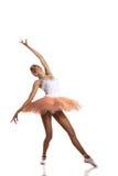 Ballerinatanzen auf einem weißen Hintergrund Lizenzfreie Stockfotografie