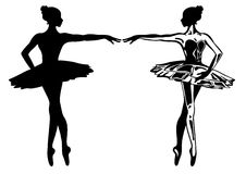ballerinavektor Arkivbilder