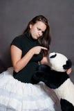 Ballerine avec le panda Photos stock