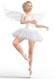 ballerine 3D avec des ailes Photos libres de droits
