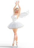 ballerine 3D avec des ailes illustration stock