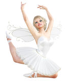 ballerine 3D avec des ailes illustration de vecteur