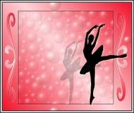 Ballerine d'escroquerie de rosso de sfondo d'escroquerie de corniche illustration stock
