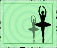 Ballerine d'escroquerie de verde de sfondo d'escroquerie de corniche illustration de vecteur
