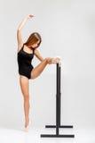 Ballerine dans l'équipement noir Image stock