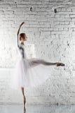 ballerine dans le blanc Photographie stock
