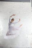 ballerine dans le blanc Images stock