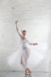 ballerine dans le blanc Images libres de droits