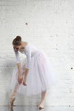 ballerine dans le blanc Photos libres de droits