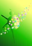 Ballerine de fleur Image libre de droits