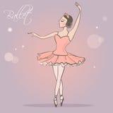 Ballerine Fille de danse dans la jupe luxuriante Photographie stock