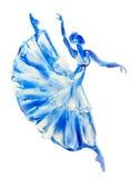 Ballerine, peinture à l'huile sur la toile Photographie stock libre de droits