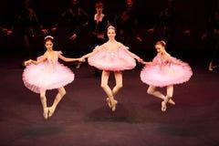 Ballerinen am Konzert Gennady Ledyakh der Schule Stockbild