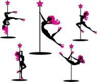 Ballerini affascinanti del palo Fotografia Stock