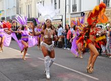 Ballerini caraibici di carnevale Fotografie Stock Libere da Diritti