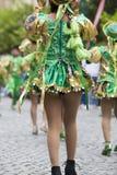 Ballerini che eseguono per l'apertura del Salta, Argentina di carnevale Fotografie Stock
