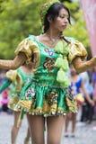 Ballerini che eseguono per l'apertura del Salta, Argentina di carnevale Fotografia Stock Libera da Diritti