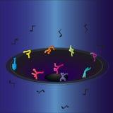 Ballerini degli uomini del disegno Immagini Stock Libere da Diritti