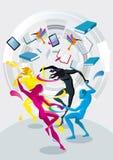 Ballerini dei colori Immagine Stock