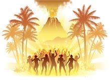 Ballerini del vulcano Immagine Stock