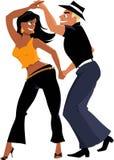 Ballerini della salsa illustrazione di stock
