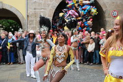 Ballerini della samba in Coburg immagine stock