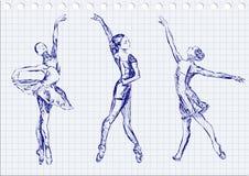 Ballerini di balletto Immagine Stock