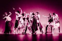 Ballerini di balletto durante la raccolta di Duyos agli ss 2015 MBFW Madrid Fotografie Stock