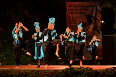Ballerini di piega della prestazione della fase dell'India Fotografia Stock Libera da Diritti