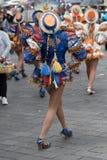 Ballerini femminili alla parata di Corpus Christi Immagini Stock
