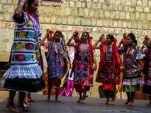 Ballerini femminili di Zapotec a Oaxaca, Messico Fotografia Stock Libera da Diritti