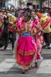 Ballerini femminili nell'Ecuador alla parata di Corpus Christi Immagine Stock