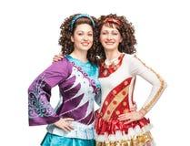Ballerini irlandesi felici Fotografie Stock Libere da Diritti