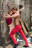 Ballerini nella via fotografie stock libere da diritti