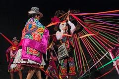 Ballerini peruviani Immagini Stock
