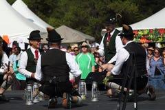 Ballerini tradizionali tedeschi Fotografia Stock