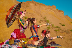 Ballerini tribali. Fotografia Stock