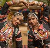 Ballerini tribali dell'India Fotografie Stock Libere da Diritti
