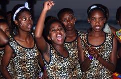 Ballerini zulù sudafricani fotografia stock