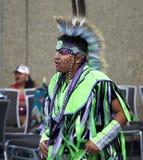 Ballerino aborigeno At Pow Wow fotografie stock libere da diritti