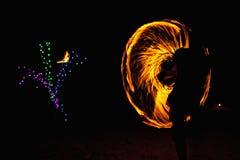Ballerino del fuoco Fotografie Stock