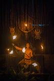 Ballerino del fuoco Fotografia Stock