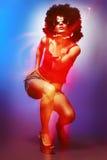 Ballerino della discoteca Fotografia Stock