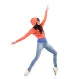 Ballerino della donna che sta sull'le dita del piede Fotografie Stock