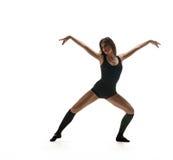 Ballerino della ragazza Siluetta di dancing Fotografia Stock Libera da Diritti