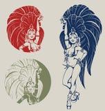 Ballerino della regina della samba Immagini Stock Libere da Diritti