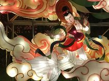 Ballerino delle luci della Cina immagini stock libere da diritti